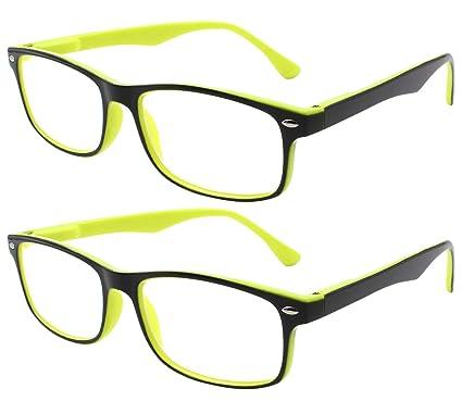 4cb72014b29 TBOC Gafas de Lectura Presbicia Vista Cansada - (Pack 2 Unidades) Graduadas  +2.00