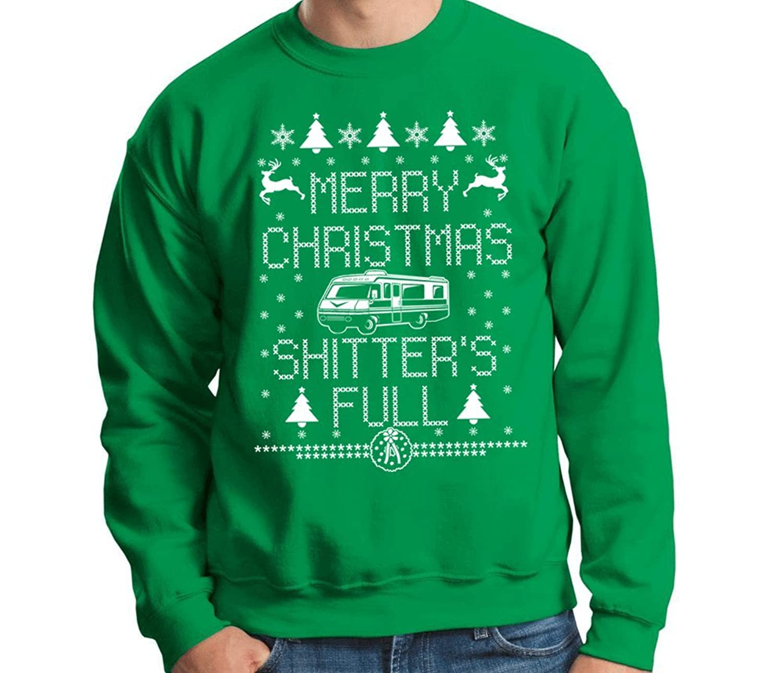Merry Christmas Shitter's Full Funny Novelty Sweatshirt at Amazon ...