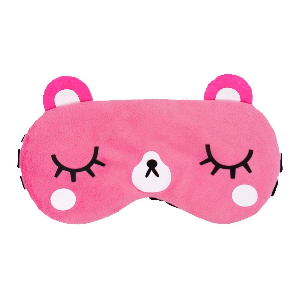 kimkoo Sleep mask & Super Soft Silk Eye Mask for Sleeping, Blindfold for Women and Kids (Pink) KT02