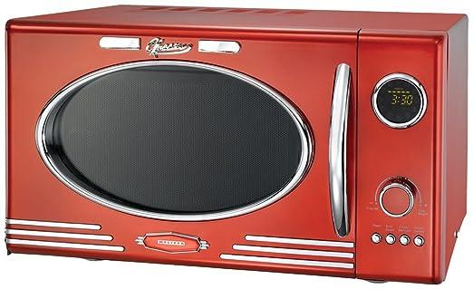 6 opinioni per Retro Forno Microonde Classico Retro 25L 900 Watt Funzione Grill Rosso