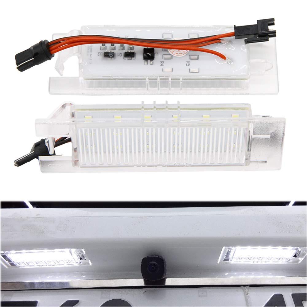 PolarLander - 1 par de lá mparas LED Blancas de 6000 K para matrí cula