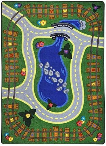 Joy Carpets Kid Essentials Early Childhood Alphabet Express Rug Multicolored 7'8 x 10'9 [並行輸入品]