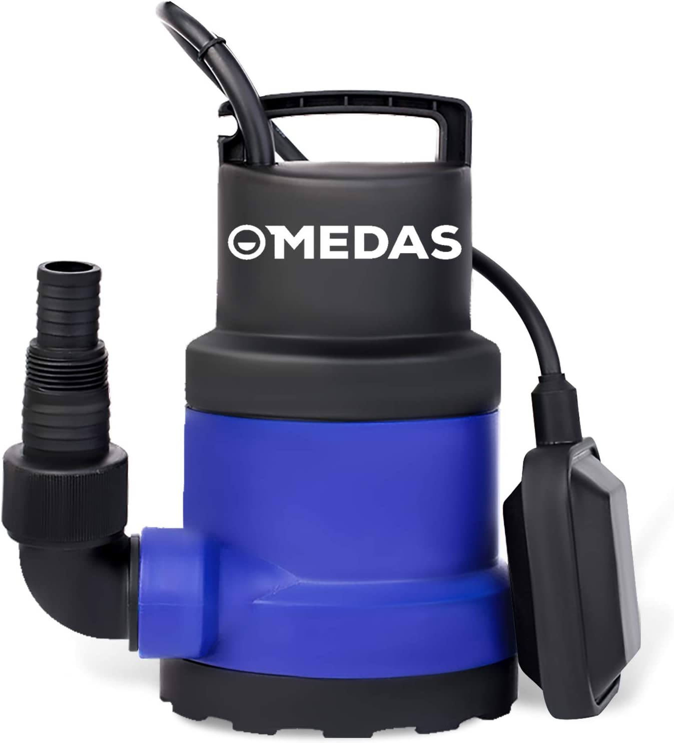 MEDAS 3/4 HP 550W 3030GPH Electric Submersible Pump Portable Sump Pumps Clean Water Pump w/Float Switch for Pool and Pond Draining Garden Pool in Clean Water