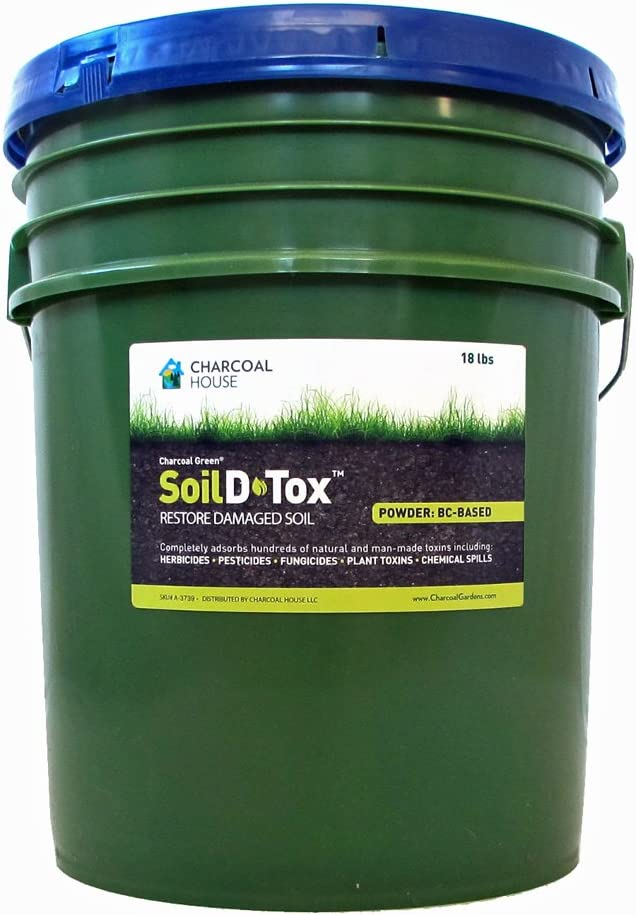 18 lb/5gal Pail Charcoal Green Agricultural Soil D•Tox Activated Charcoal Powder - Coal Based …