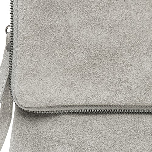 CASPAR Fashion - Cartera de mano para mujer gris claro