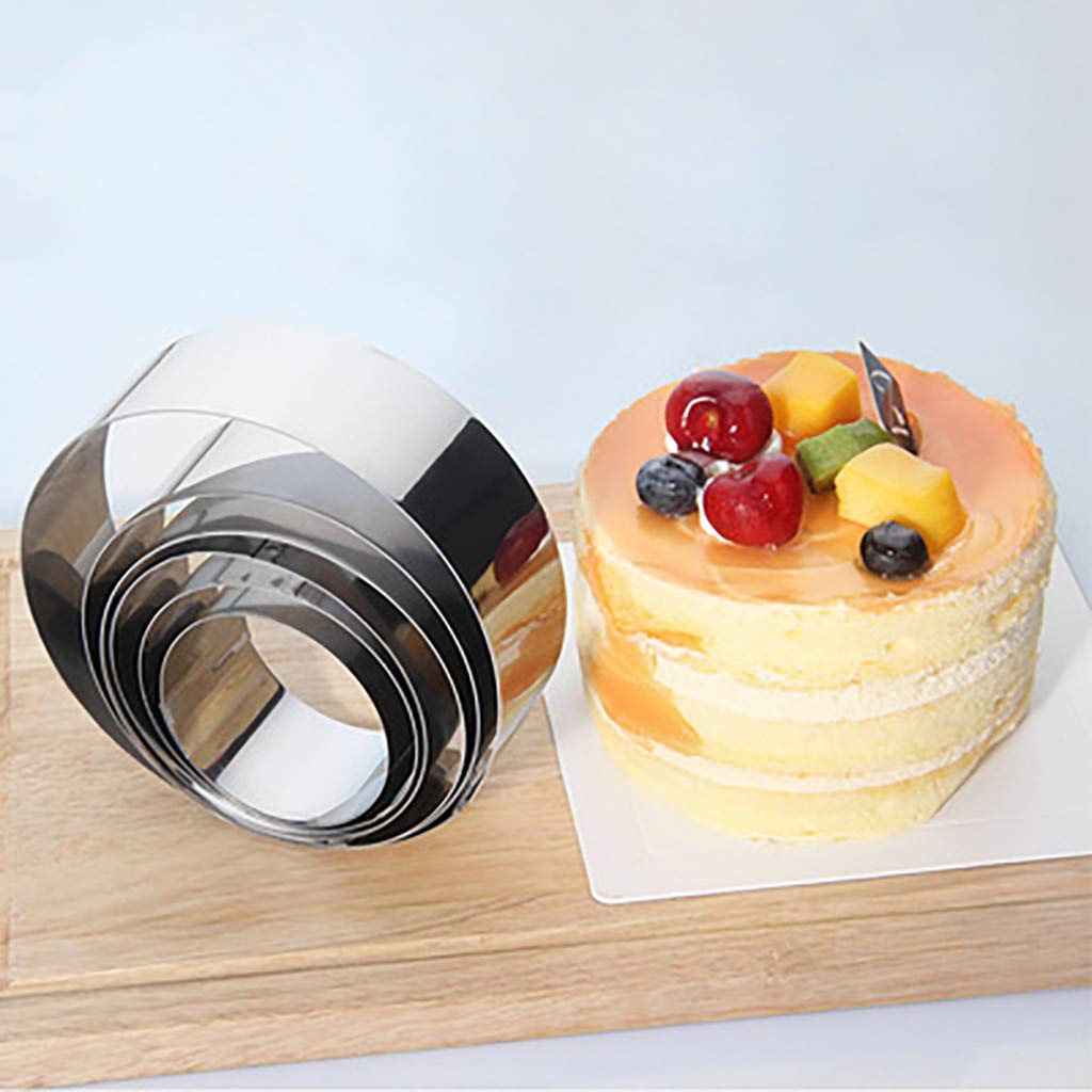 Round Mousse Cake Food Grade Stainless Steel Pastry Ring For Baking 6pcs