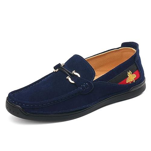 AFCITY Zapatos de Ante de los Hombres de los Guisantes Mocasines Casuales del pie Zapato clásico para Botes: Amazon.es: Zapatos y complementos