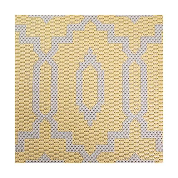 61miaBe2vaS CC Teppich In-Outdoor Wetterfest Gelb-Beige 60x230cm Oeko-Tex Standard 100% Polypropylen Allergiker geeignet