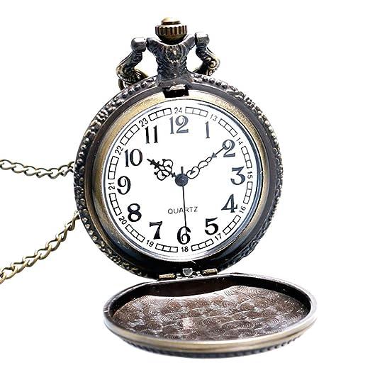 Reloj de Bolsillo para Hombre, diseño de la Fuerza Marina de los Estados Unidos, Cuarzo, Reloj de Bolsillo, Regalo para Hombres: Amazon.es: Relojes