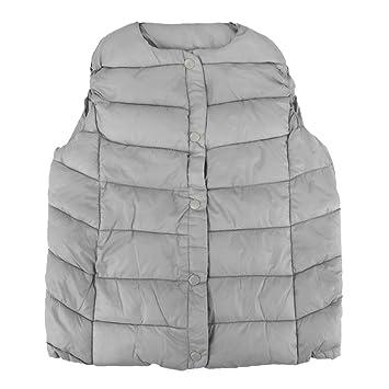 dbf77dca5 FakeFace Boys Girls Toddler Autumn Winter Outerwear Vest Jacket Lightweight  Padded Round Collar Waistcoat Vest Coat Body Warmer Warm Gilet Jacket Coat  for ...
