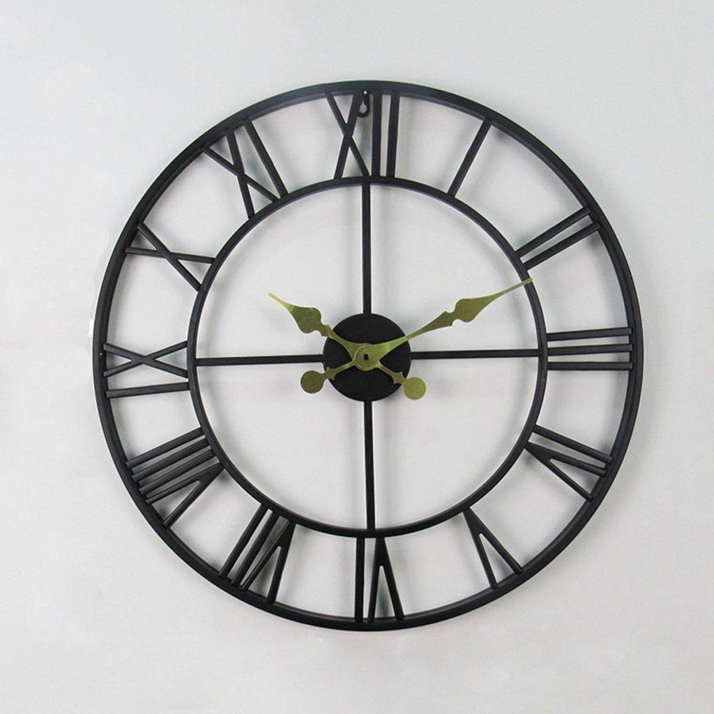 ヴィンテージローマンウォールクロック、時計ノスタルジア付きのアンティークウォールクロック (色 : A, サイズ さいず : Diameter56cm) B07DV5MP29 Diameter56cm|A A Diameter56cm