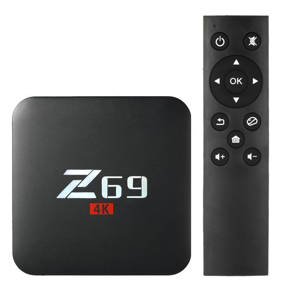 Walmeck Z69 Smart Android 7.1 TV Box,Amlogic S905X Quad-core,UHD 4K 3GB/32GB,Mini PC LAN & WiFi H.265 Miracast Media Player US Plug