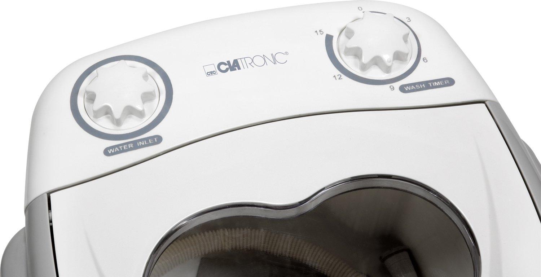 Clatronic 271693 Mini lavadora, 1,5 kg, ideal para camping, 135 W