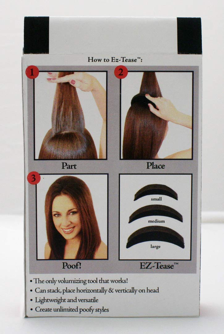 Mia Ez-Tease, Hair Volumizing Inserts, Grippit Material, Will Not Fall Out, Bump Up Your Hair, Blonde, for Women, Stylists, Teens, Girls 3 pcs by Mia Beauty (Image #8)