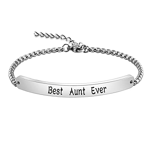 ENSIANTH Aunt Gift Best Ever Bracelet New Bangle Birthday For Auntie