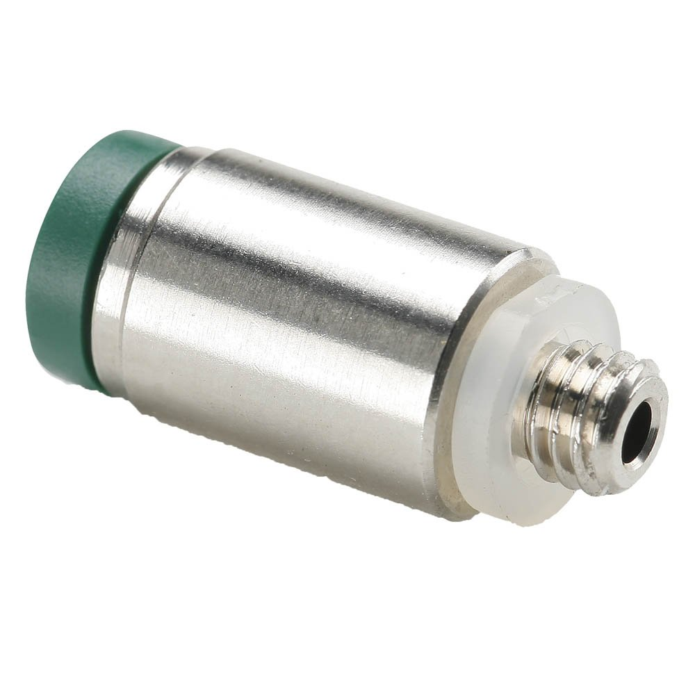Parker 68PLPR-4-0-pk20 Prestolok PLP Push-to-Connect Instant Fitting, Tube to Pipe, Nickel Plated Brass, Push-to-Connect and UNF Round Body Connector, 1/4'' and 10''-32 (Pack of 20)