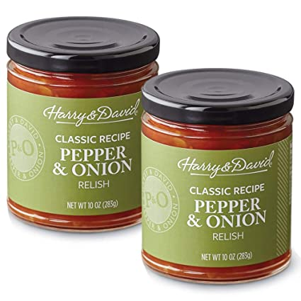 Amazon Com Harry David Classic Recipe Pepper Onion Relish Dip Spread 2 Pack Grocery Gourmet Food
