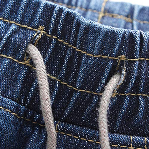 Stile Da Casual Sport pantaloni Jogger Uomo In Beodole Streetblu Scuro2xl Con Elastici Denim Jeans Trousers Coulisse Pants bf6yYg7v