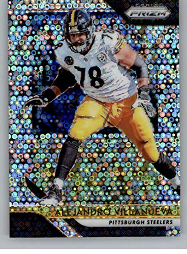 2ac953a44 Amazon.com  2018 Panini Prizm Prizm Disco Football  37 Alejandro Villanueva  Pittsburgh Steelers Official NFL Trading Card Exclusive Parallel to  Blasters  ...