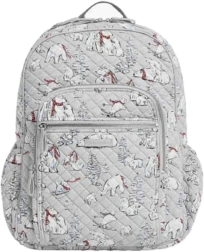 Vera Bradley Iconic Campus Backpack in Beary Merry Signature Cotton