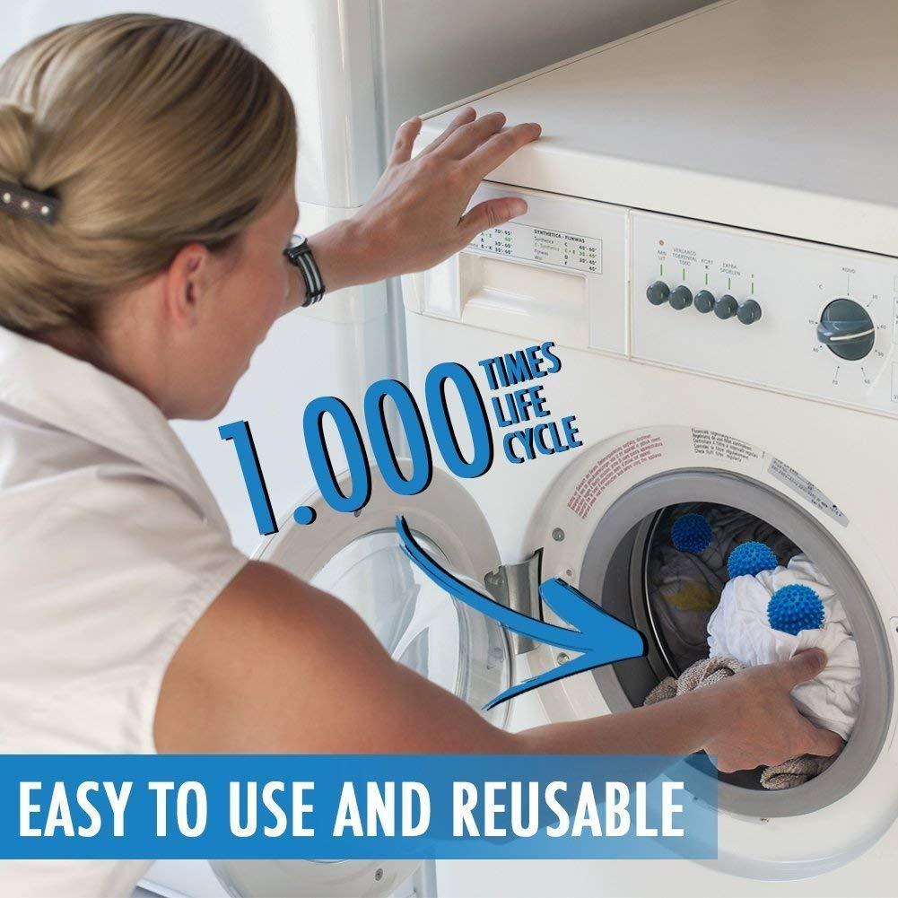 Bolas de Secadora Reutilizables - Bolas de Secado para Lavandería. Suavizante de Ropa: Amazon.es: Salud y cuidado personal