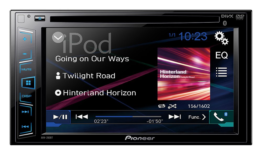 Pioneer AVH-280BT In-Dash DVD Receiver with 6.2'' Display and Bluetooth by Pioneer