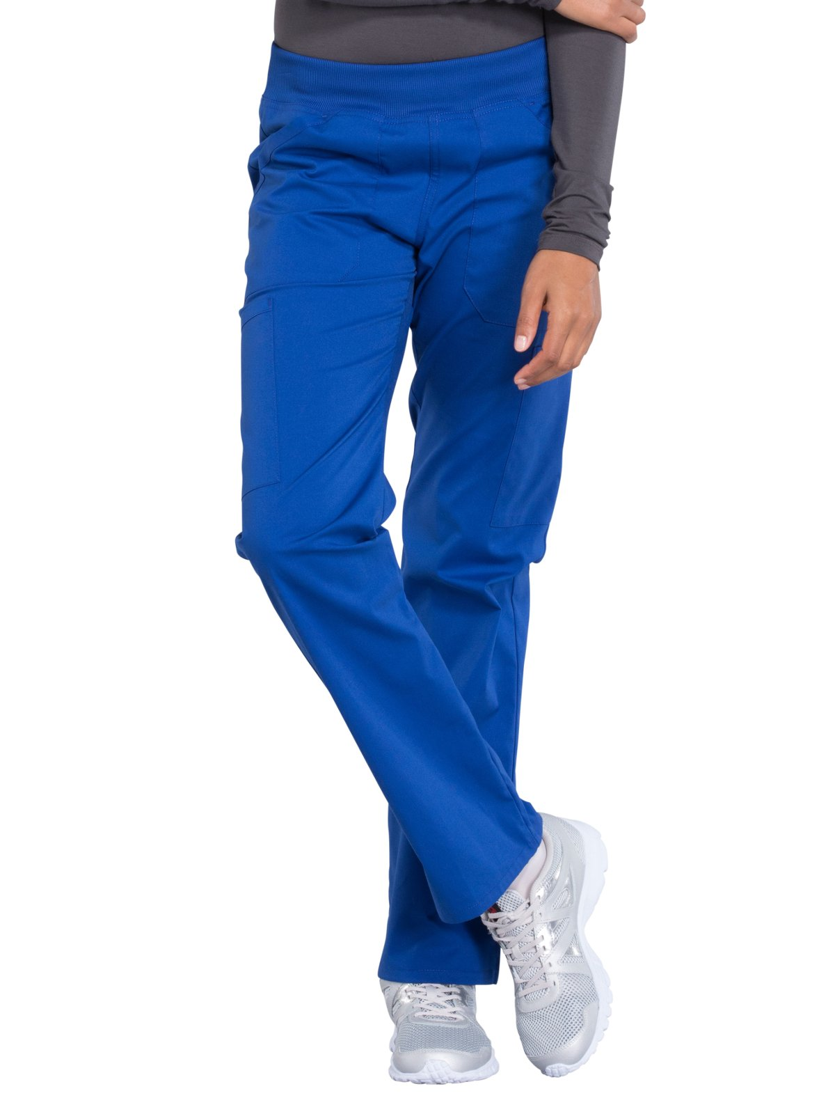 Cherokee Professionals by Workwear Women's Elastic Waistband Pull On Cargo Scrub Pant XX-Large Petite Galaxy Blue