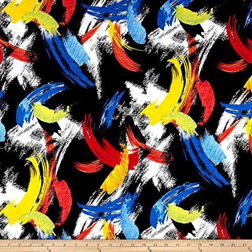 Telio Misty Slub Poly Spandex ITY Knit Royal Fabric By The Yard
