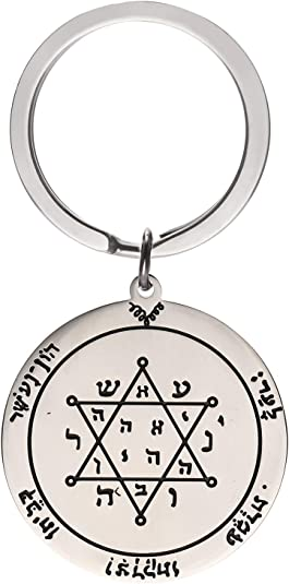 LIKGREAT The Fifth Pentacle of Saturn Key of Solomon Seal Pendant Necklace for Men and Women