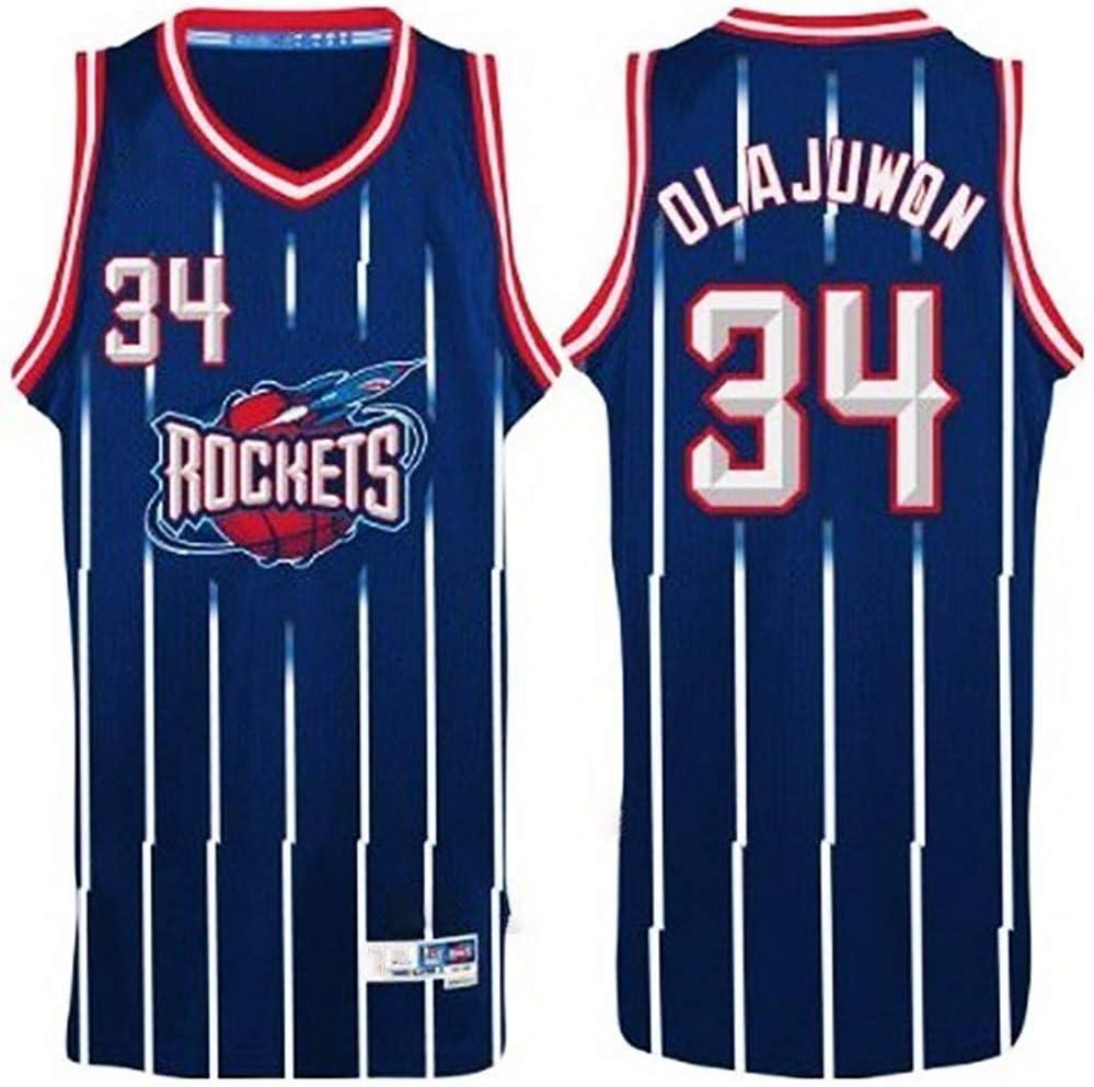 LCY Baloncesto Jersey NBA Jersey Rockets 34# Olajuwon Transpirable Resistente al Desgaste Deporte Chaleco de la Tapa del Ventilador Jerseys del Swingman de Las Camisetas