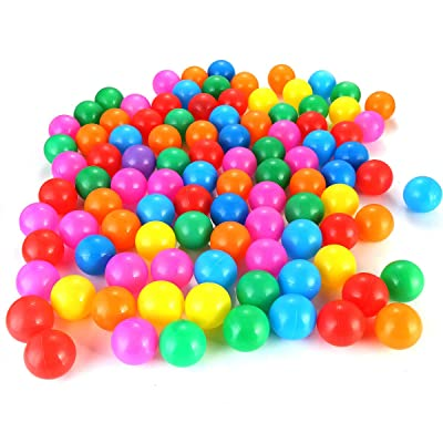 ROSEBEAR Pit Balls, 100pcs/Set Colorful Funny Soft Plastic BPA Free Crush Proof Air-Filled Ocean Ball Set Baby Kids Tent Swim Toys Ball Playing Tool (4cm): Toys & Games