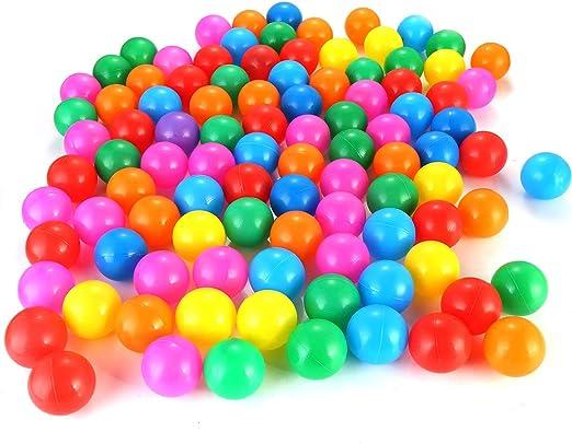 Petyoung 100 Piezas de Bolas de Plástico de Bolas de Plástico de ...