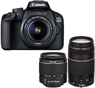 Canon 3011C028, Cámara Digital Reflex EOS 4000D, 18-55 Mm ...