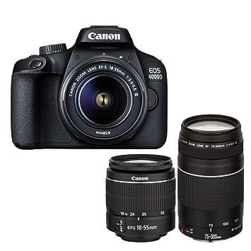 Canon 3011C028, Cámara Digital Reflex EOS 4000D, 18-55 Mm DC ...