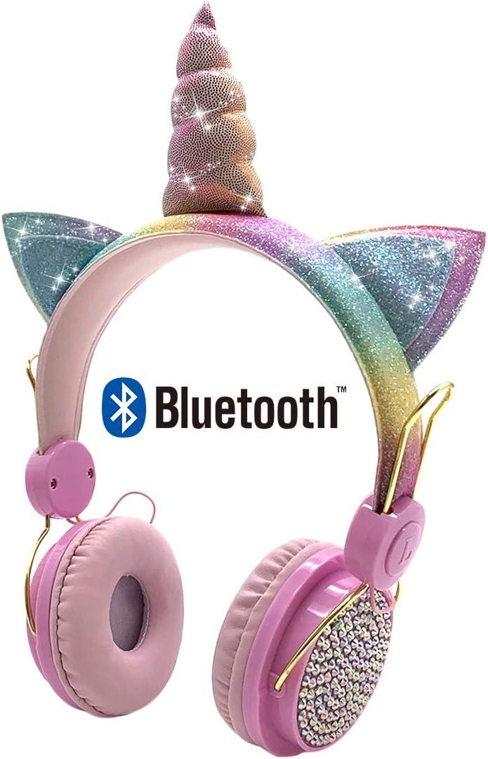 Kids Cotton Headphone Bags Unicorns.
