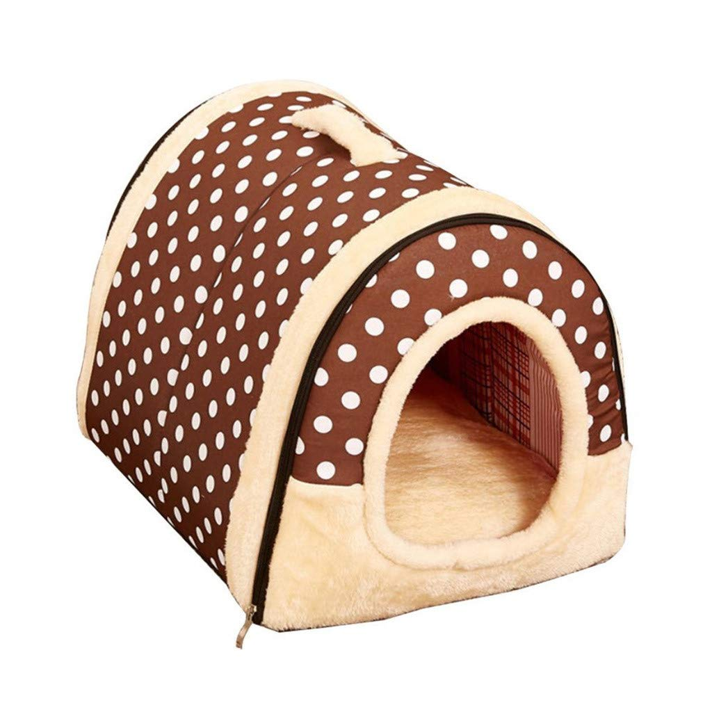 L Vacally Dog House Sofa Pets Bed Cat Puppy Rabbit Pet Warm Kennel Soft Pet Nest Indoor Pets House Supplies