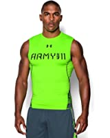 Under Armour Men's UA Army Of 11 Sleeveless Compression Shirt Hyper Green Size Large