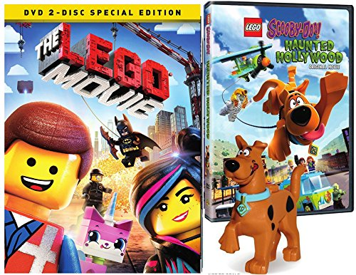Lego Scooby: Haunted Hollywood & The Lego Movie 2 disc DVD Special Edition Lego Figure Bundle Mystery Inc. set Double Feature -