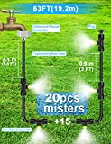 Misters for Outside Patio 63FT(19.2M)+21 Brass Mist