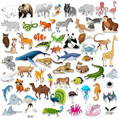SpriteGru 59 PCS Farm Animal Zoo Magnets for Toddlers Kids, Perfect Preschool Learning: Toys & Games