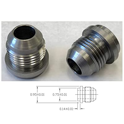 Pair AN10 10 an Male Billet 1018 MILD Steel Weld ON Fitting Bung: Industrial & Scientific