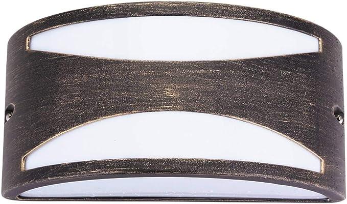 Applique da parete per esterni manhattan oro antico e27 1x 60w max