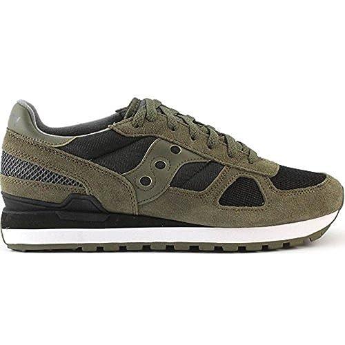 Saucony Shadow Original, Zapatillas de Cross para Hombre, Verde (Olive/Black)