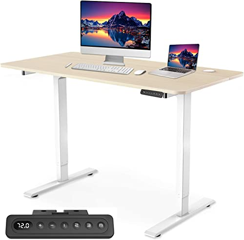 MAIDeSITe Dual Motor Electric Standing Desk Adjustable Height Computer Desk