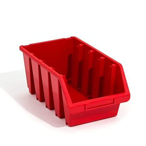 ERGO Caja Cajas apilables color rojo Talla 4 Almacenamiento – Caja de plástico
