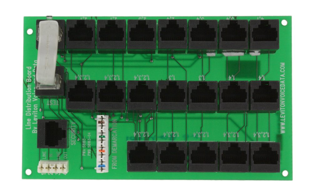 Leviton 47603-TDM Telephone Line Distribution Board - Wall Dimmer ...
