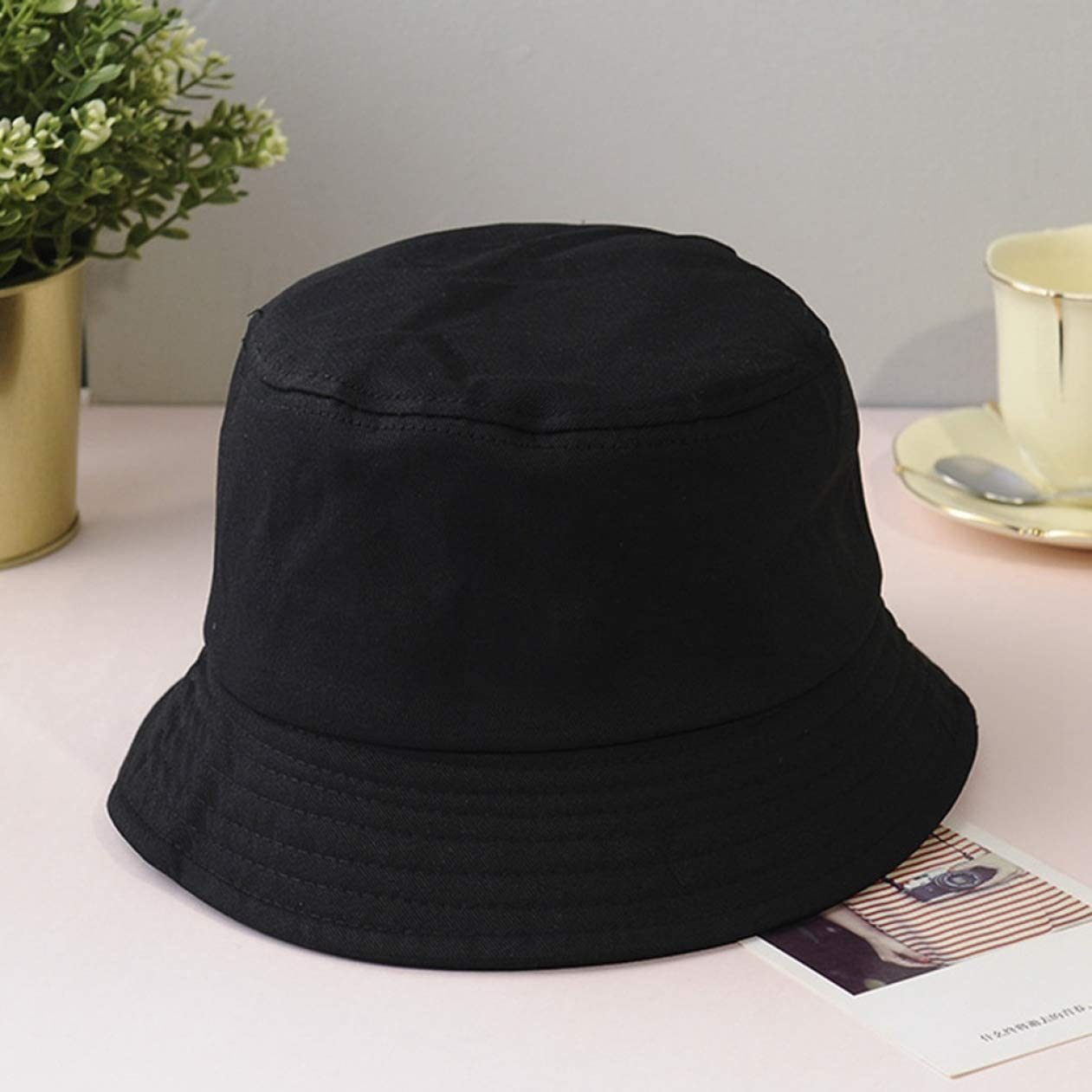 Picnic and Other Outdoor Activities 4h6yerf rational Adult//Children Cotton Adults Bucket Hat Summer Fishing Fisher Beach Sun Cap UK for Camping