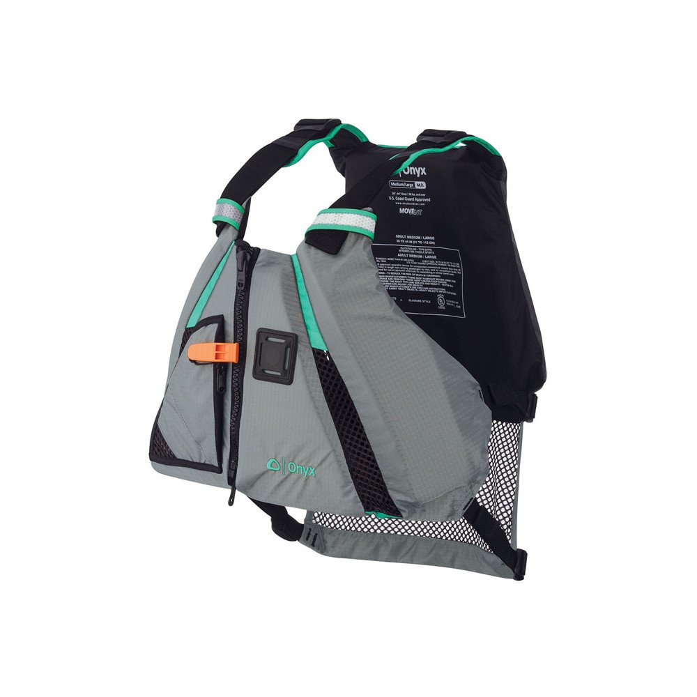 ONYX MoveVent Dynamic Paddle Sports Life Vest, X-Small/Small, Aqua