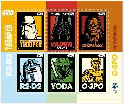 Sello Star Wars 40º Aniversario 5? - España 2017: Amazon.es ...