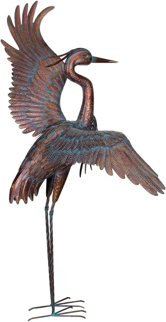 Regal Art & Gift Copper Patina Heron 48
